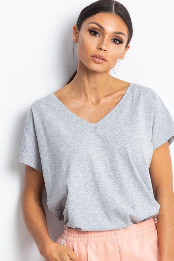 Rausvos spalvos suknelė su permatomomis rankovėmis 138685 Makover