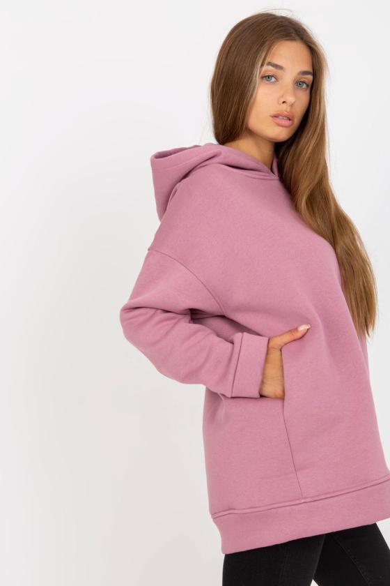 Žydros spalvos medvilninė suknelė dekoruota raukiniais_130440