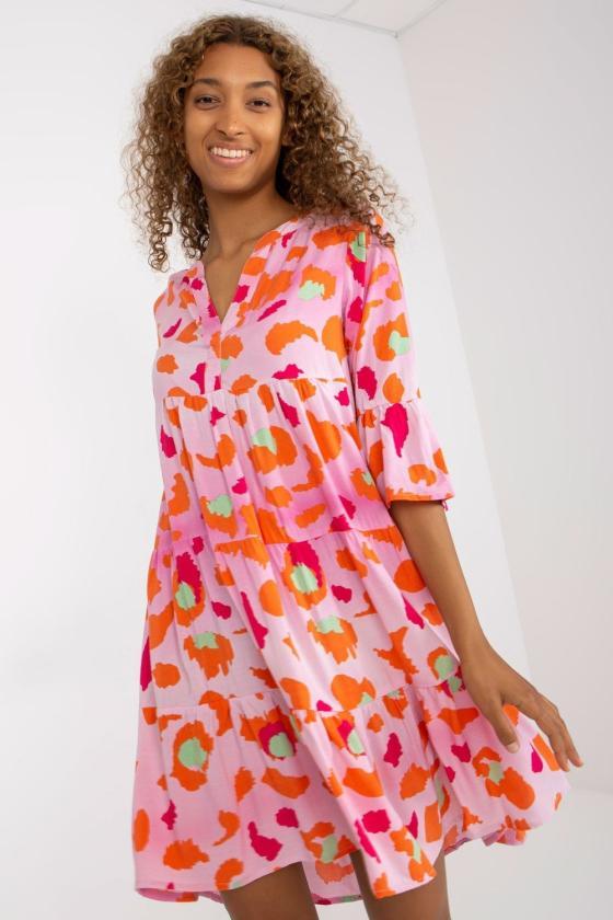 Juoda padidinto modelio suknelė su gobtuvu_131165