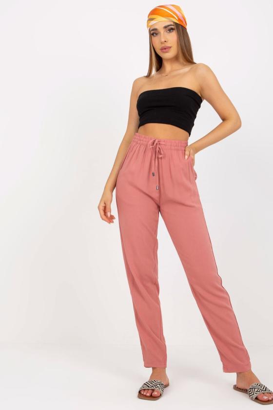 Medvilninė violetinės spalvos laisvalaikio suknelė