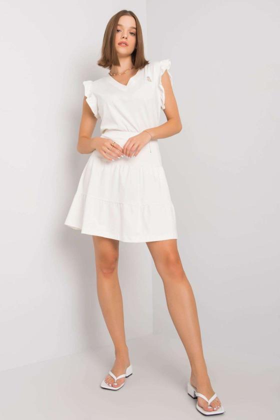 Seksuali tamsiai raudona odos imitacijos suknelė_132681