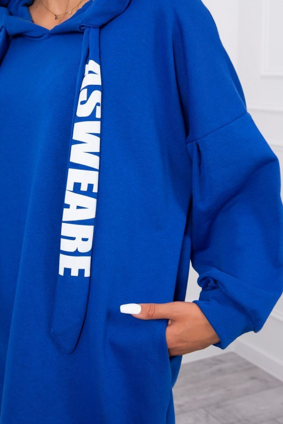 """Mėlyna oversize laisvalaikio suknelė """"Asweare""""_136327"""
