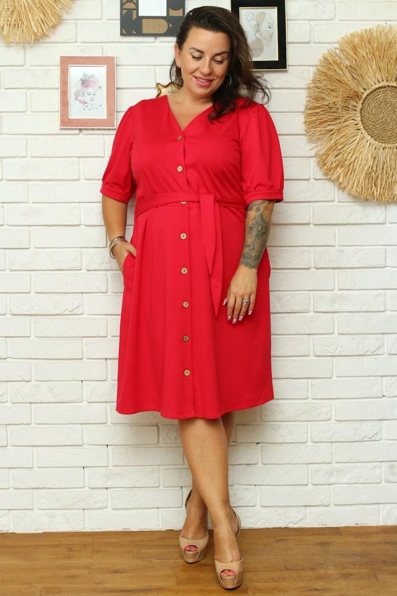 """Purvinos rožinės spalvos plisuota suknelė su dirželiu """"Lila""""_136465"""