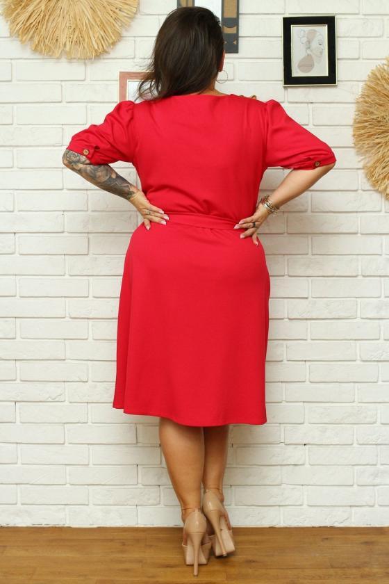 """Purvinos rožinės spalvos plisuota suknelė su dirželiu """"Lila""""_136466"""