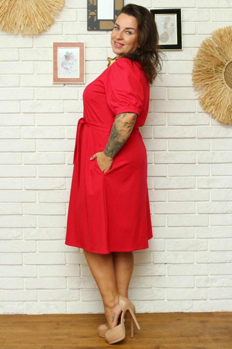 """Purvinos rožinės spalvos plisuota suknelė su dirželiu """"Lila""""_136467"""