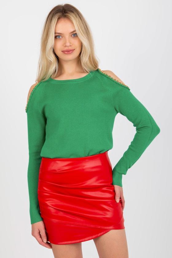 Raudonos latekso imitacijos kelnės su raišteliais_136632
