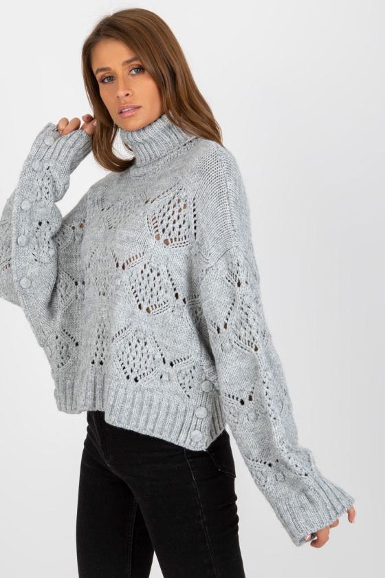 Kapučino spalvos suknelė dekoruota kutais_136725