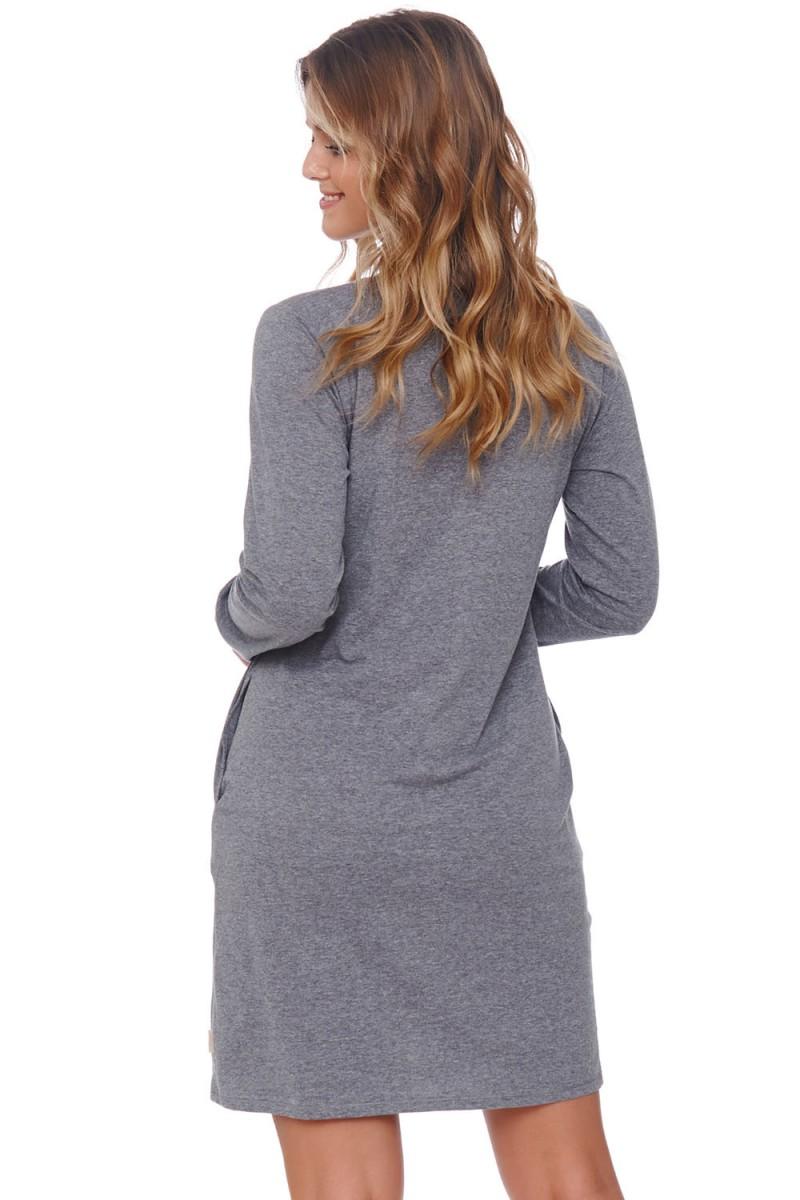 Ilga juoda vakarinė suknelė atvira nugara_136954