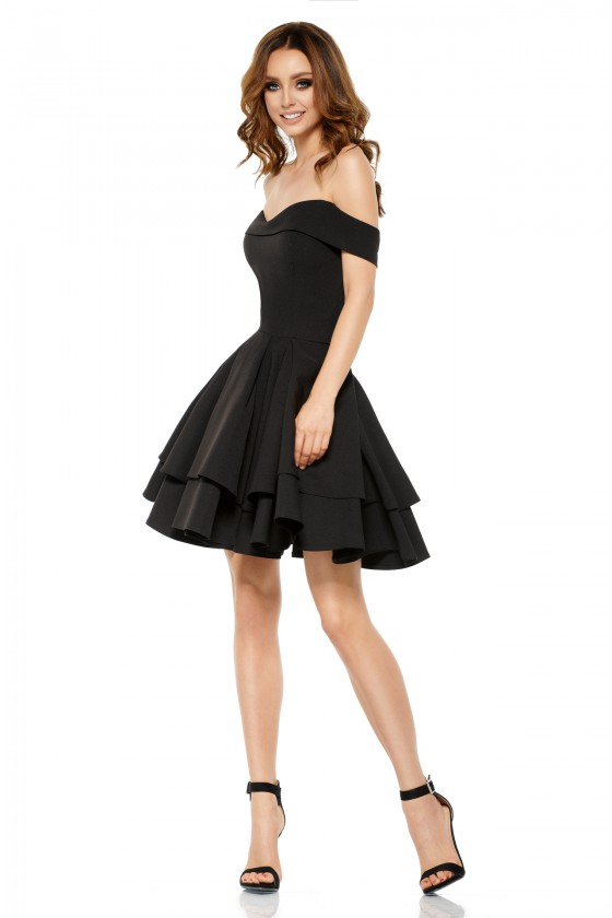Elegantiška juoda suknelė L258_136993