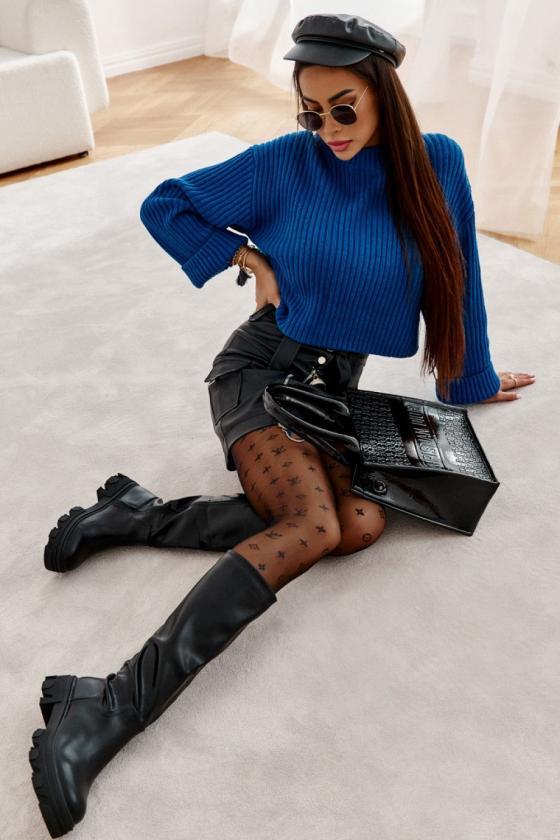 Raudonos spalvos ilgas kardiganas 2019-2_137856