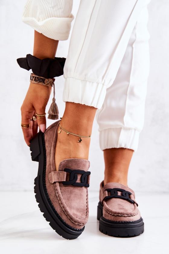 Pilkos spalvos šilta dryžuota midi suknelė_138024