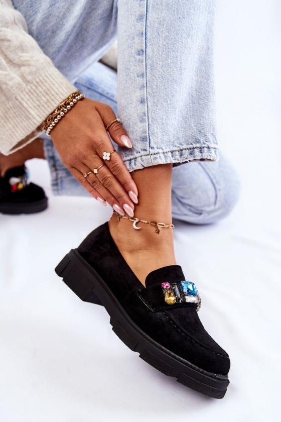 Mėlynos spalvos šilta dryžuota midi suknelė_138028