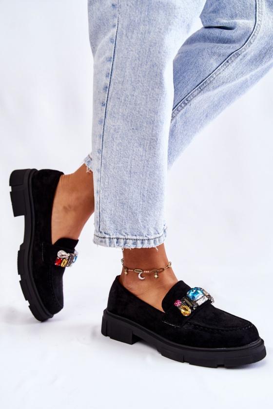 Mėlynos spalvos šilta dryžuota midi suknelė_138029