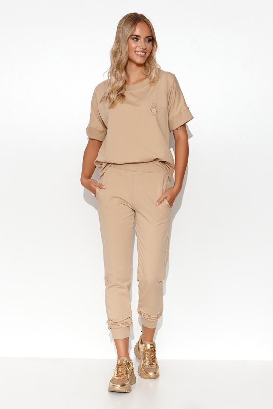 Juodas midi sijonas su kišenėmis