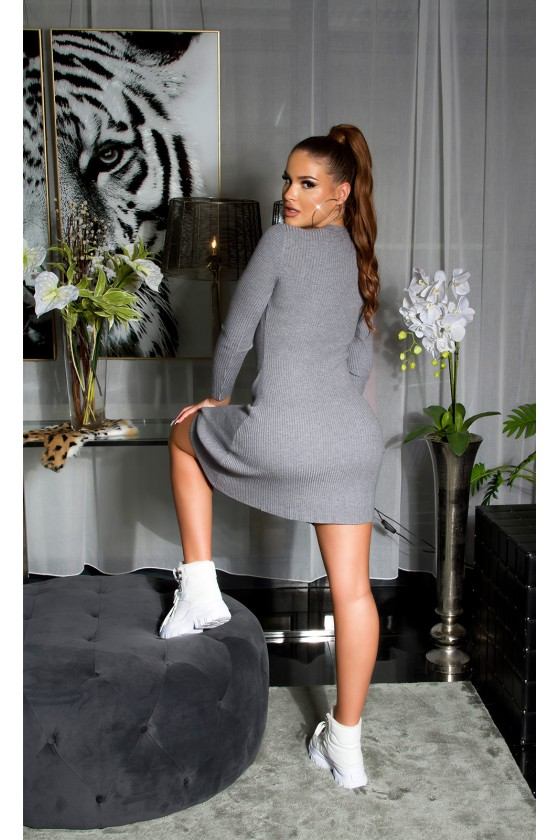 Pilkos spalvos A formos suknelė_139968