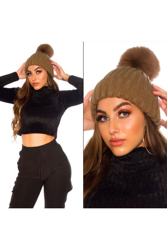 Mėlynos spalvos užsegamas megztinis su mohera_142167