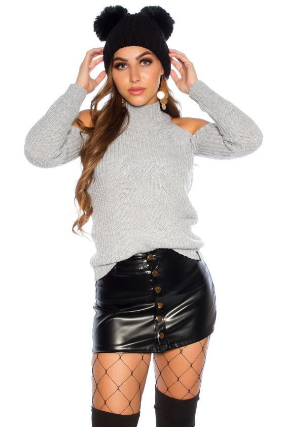 Raudonos spalvos kelnės su sagomis_142462