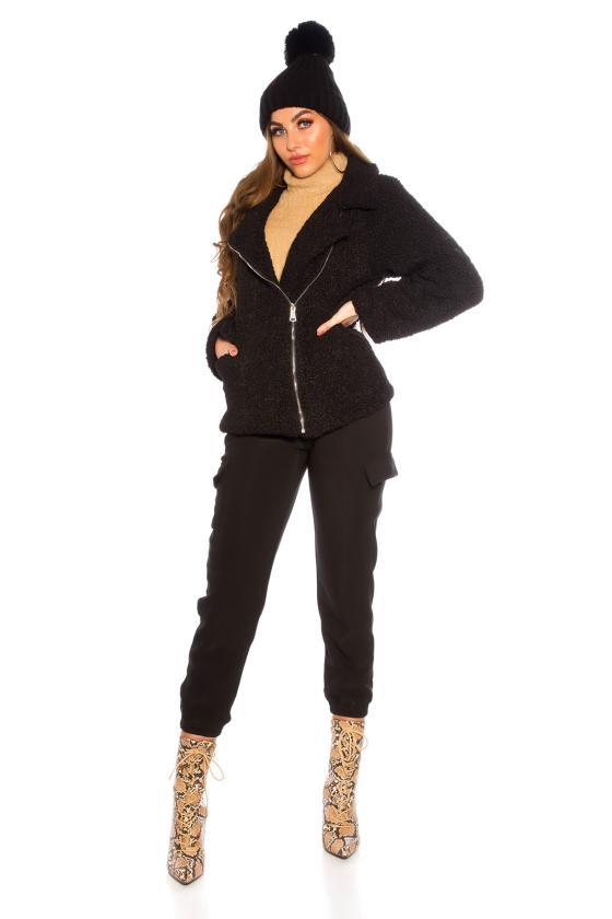 Juodos spalvos kelnės su sagomis_142472