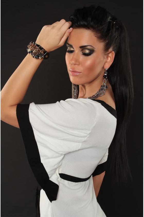Juoda asimetriška suknelė_142491