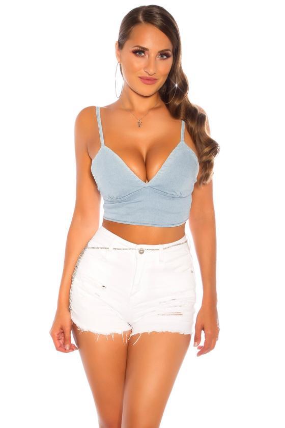 Baltos spalvos megzta suknelė su dirželiu_142573