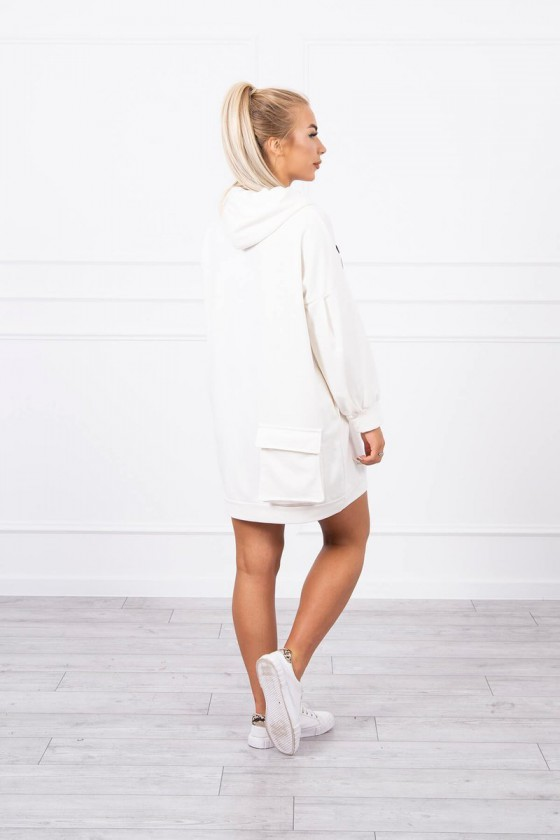 """Baltos spalvos oversize laisvalaikio suknelė """"Asweare""""_143054"""