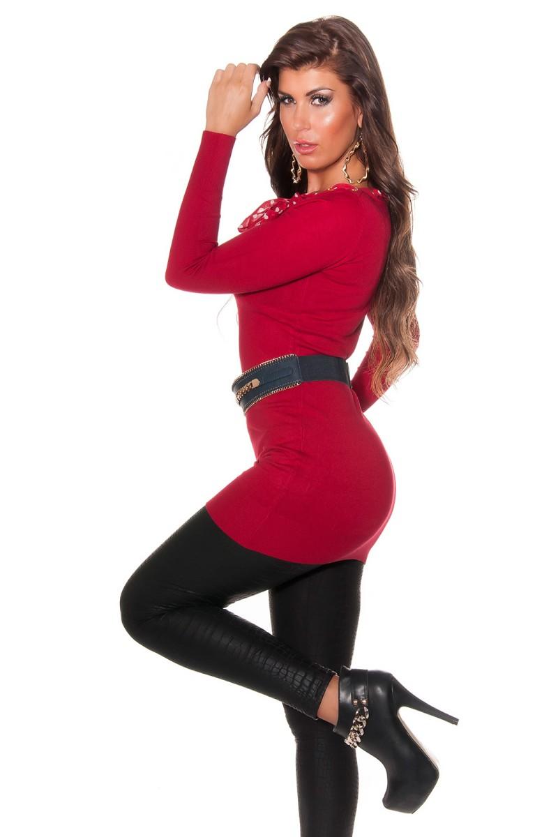 Juoda šifoninė suknelė su šilku_144166