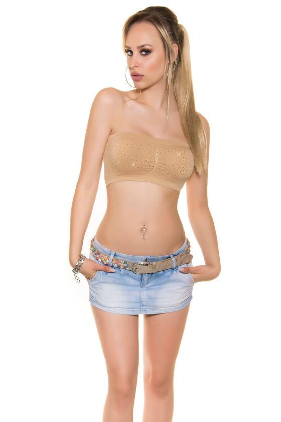 Kapučino spalvos šifoninė suknelė su šilku_144172