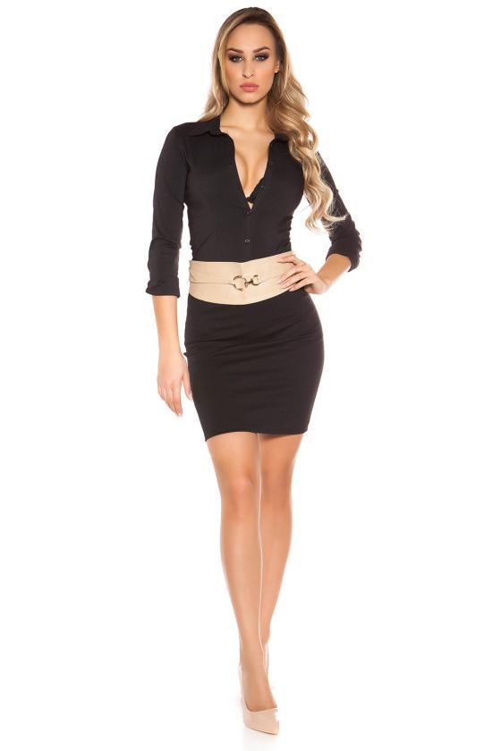 Rausva šifoninė suknelė su šilku_144177