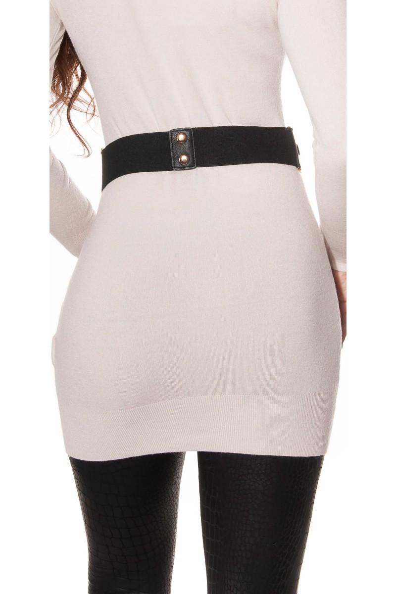 Juoda šifoninė suknelė su šilku_144184