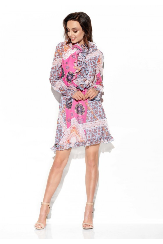 Šifoninė suknelė su šilku_144219