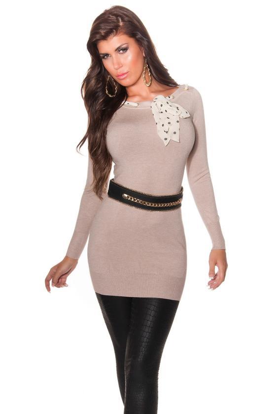 Šifoninė suknelė su šilku_144225