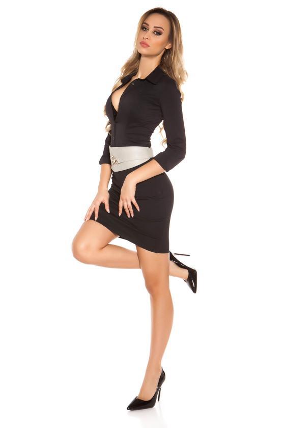 Šifoninė suknelė su šilku