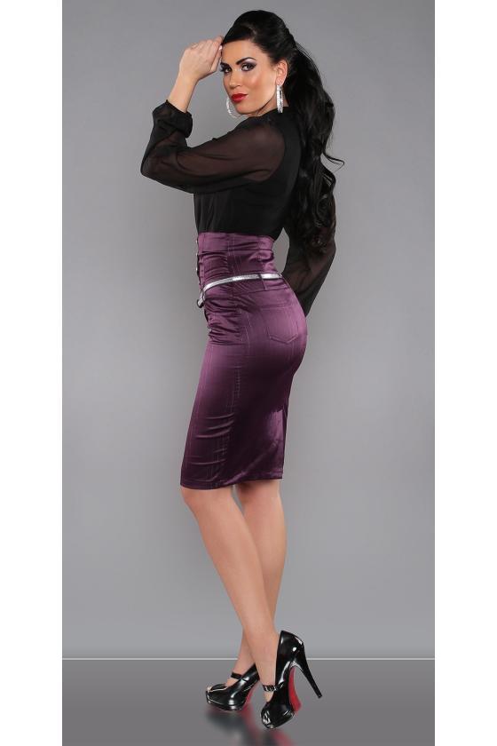 Grafito spalvos dviejų dalių kompletas kepurė+šalikas_145962