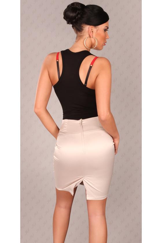"""Smėlio spalvos suknelė su raštais """"Hanna""""_146029"""