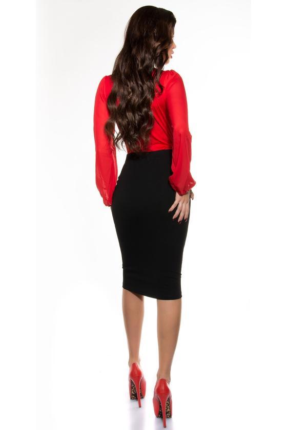 Raudonos spalvos elegantiškas švarkelis 118948 Colett