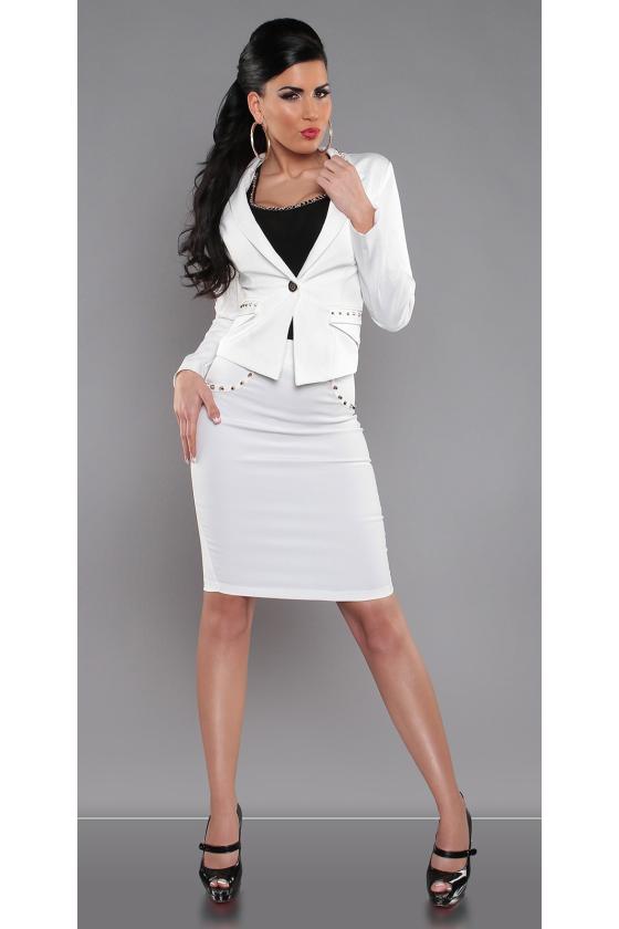 Raudonos spalvos elegantiškas švarkelis 118948 Colett_146203