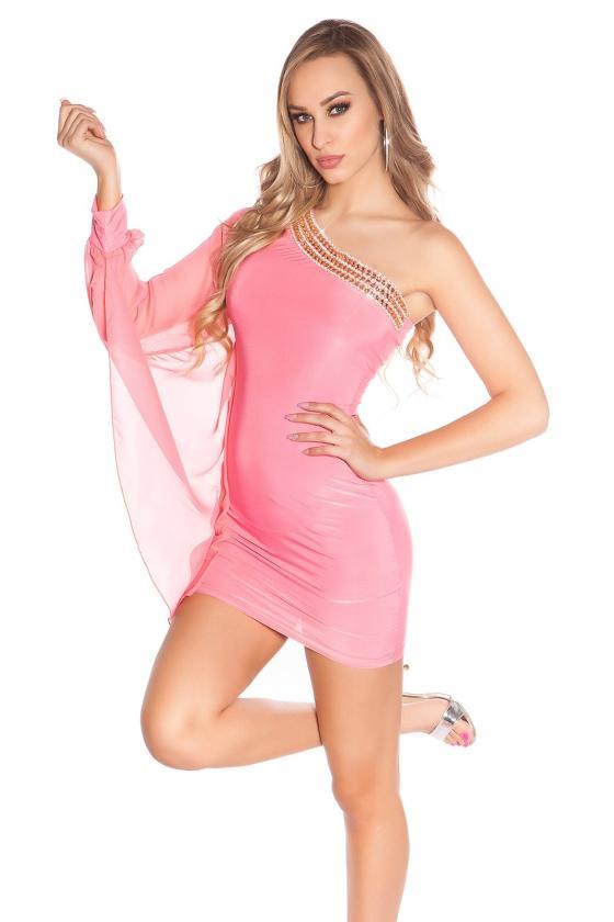 Mėlyni džinsai su juodais nėriniais K600-316_146315