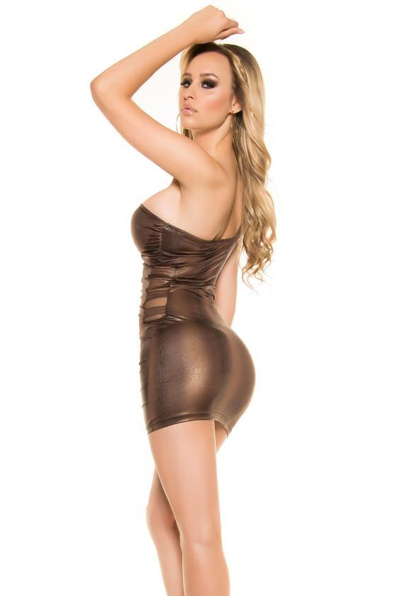 Tamsiai pilkos spalvos laisvalaikio suknelė L348_146695
