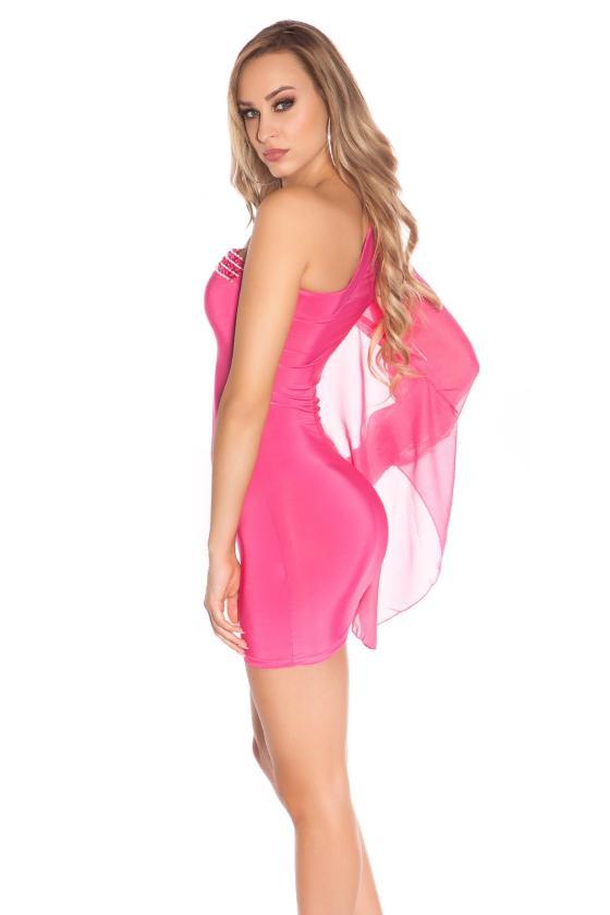 Mėlynos spalvos laisvalaikio suknelė L347