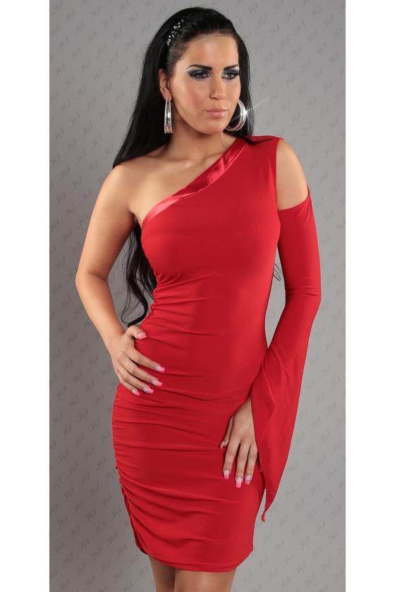 Mėlynos spalvos laisvalaikio suknelė L347_146700
