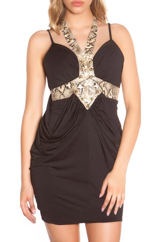 Mėlynos spalvos laisvalaikio suknelė L347_146701