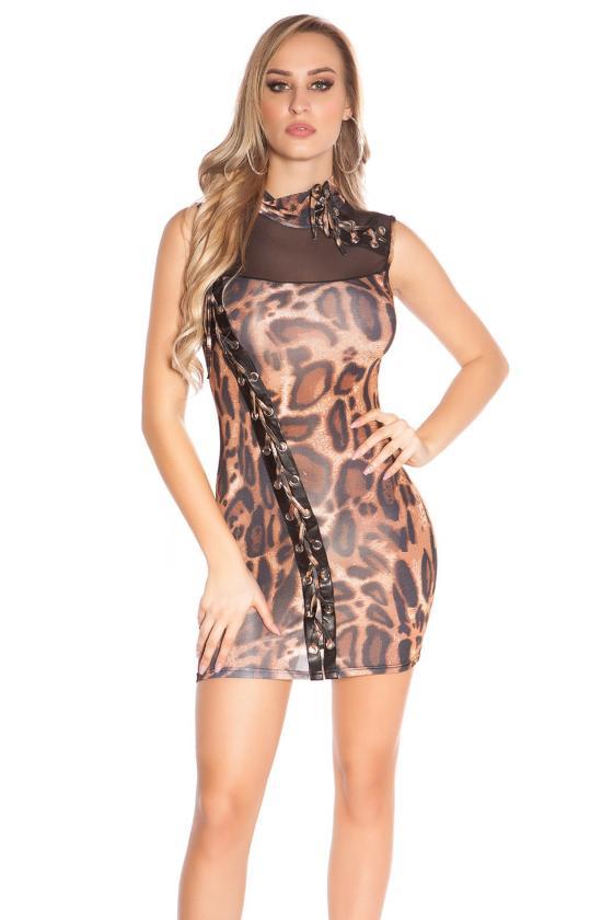 Tamsiai mėlynos spalvos laisvalaikio suknelė L347_146705