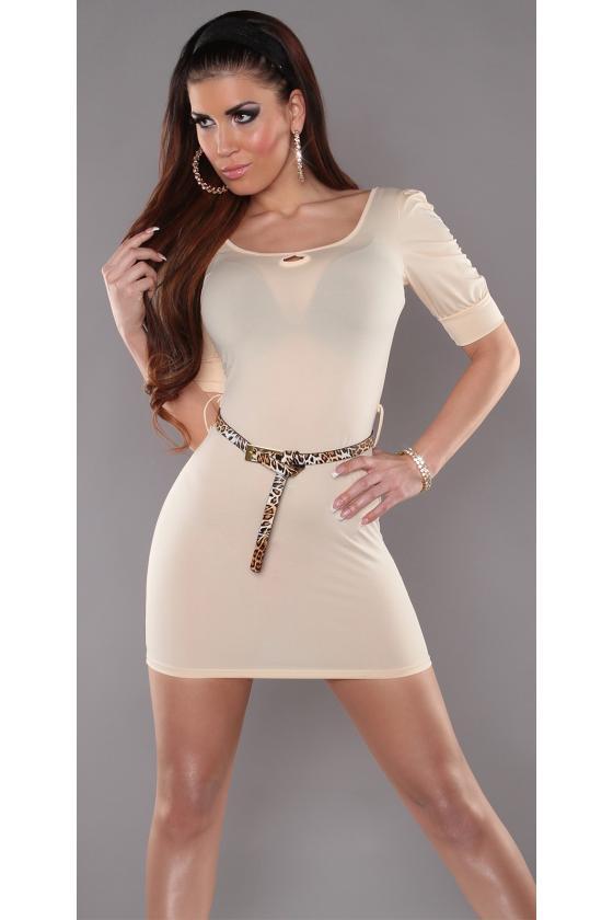 Kapučino spalvos laisvalaikio suknelė L347_146713