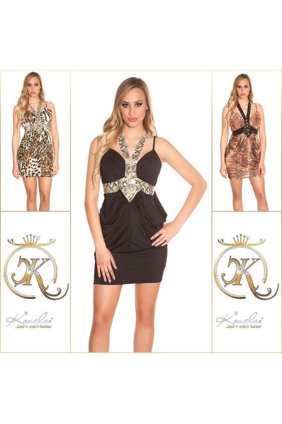 Pilkos spalvos laisvalaikio suknelė L347_146717