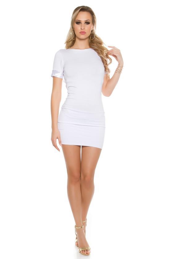 Smėlio spalvos laisvalaikio suknelė L347_146721