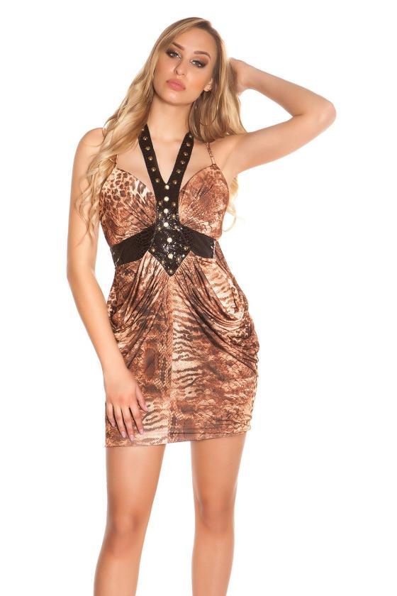 Juodos spalvos laisvalaikio suknelė L347_146725