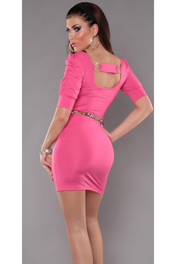 Juodos spalvos laisvalaikio suknelė L347