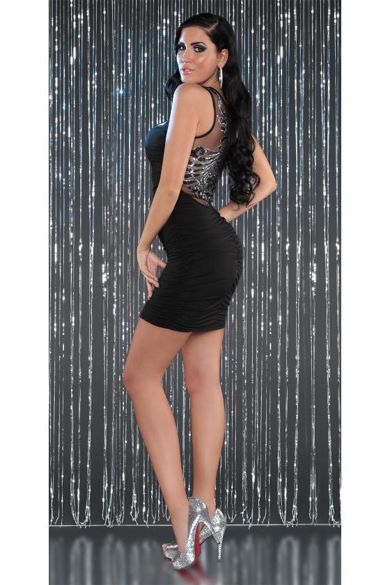 Bordinės spalvos laisvalaikio suknelė L347_146730