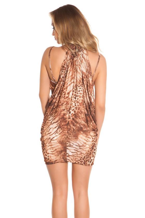 Mėlynos spalvos laisvalaikio suknelė L346