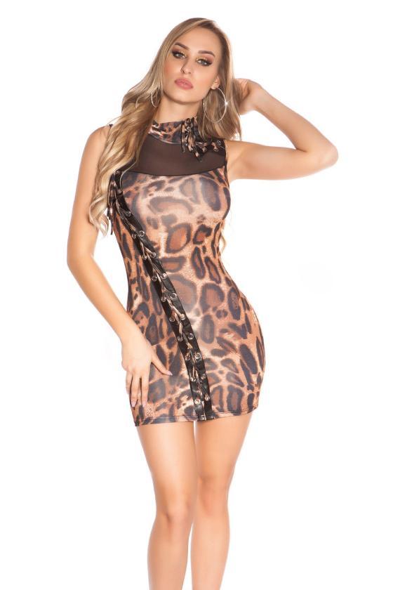 Mėlynos spalvos laisvalaikio suknelė L346_146741